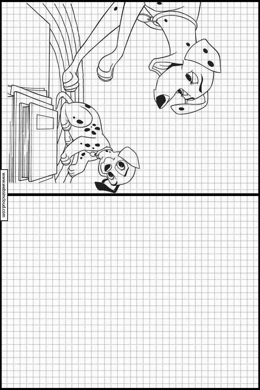 Copie Dessins Sur Quadrillage Les 101 Dalmatiens 23