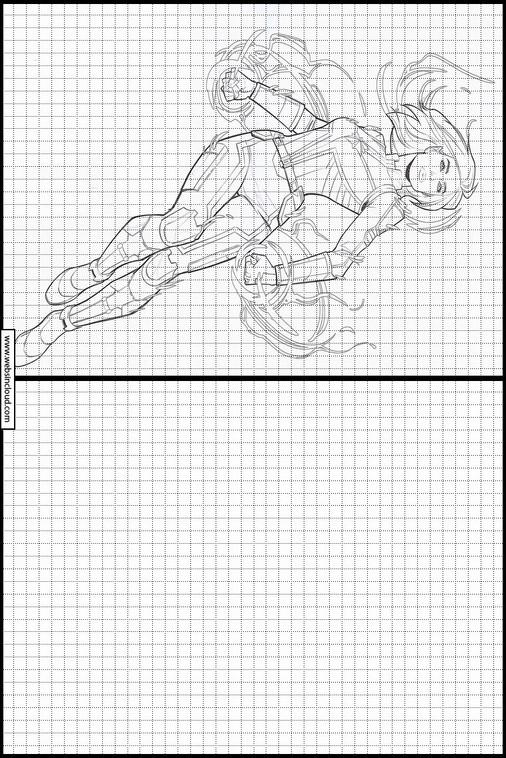 Zeichnen Lernen Captain Marvel Ausmalbilder 17
