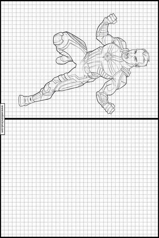 Zeichnen Lernen Captain Marvel Ausmalbilder 29