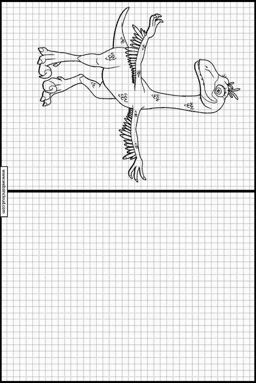 Zeichnen lernen Dinosaurier Zug ausmalbilder 11
