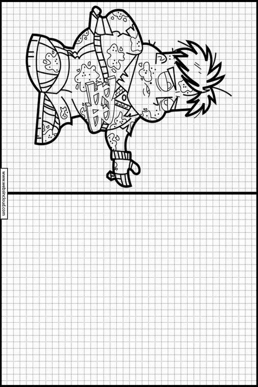 Johnny Test dibujos para copiar y colorear 7