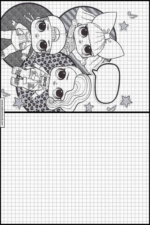 Copiar dibujos actividades para niños l o l surprise 2