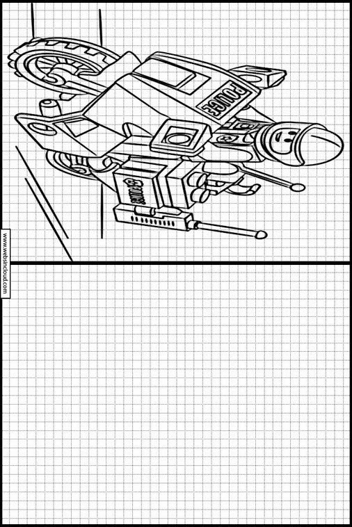 Zeichnen lernen Lego Polizei malvorlagen 6