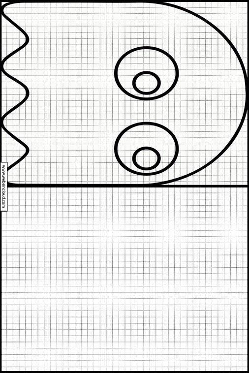 PacMan dibujos para copiar y colorear 7