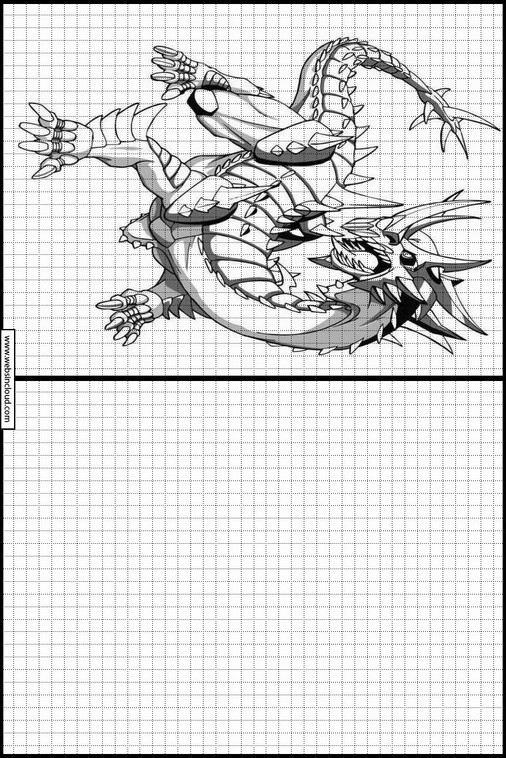 бакуган рисунки по клеточкам выбор китайских