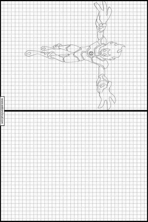 Zeichnen lernen Ben 10 ausmalbilder 5