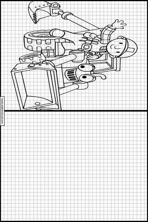 Dibujos para aprender a dibujar Bob el constructor 48