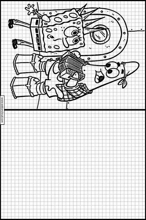 Atividades Para Aprender A Pintar Bob Esponja 41