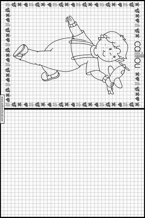 Caillou dibujos para copiar y colorear 14