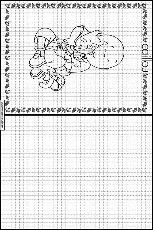 Caillou dibujos para copiar y colorear 5