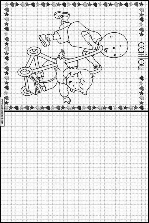 Caillou dibujos para copiar y colorear 7