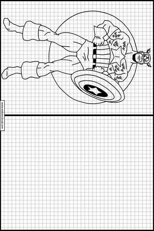 Zeichnen lernen Captain America ausmalbilder 17