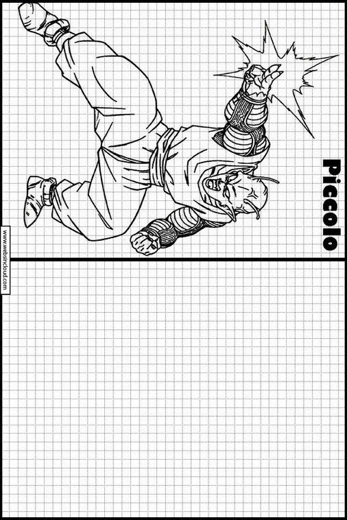 Copiar Dibujos Actividades Para Niños Dragon Ball Z 11