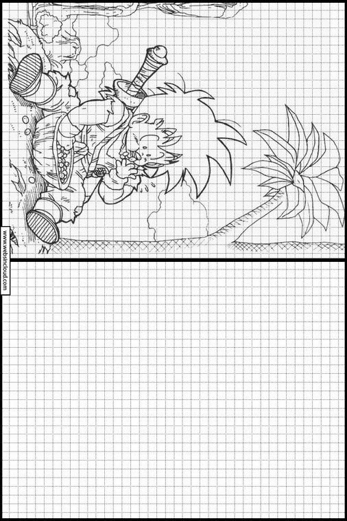 Actividades Para Niños Aprendan Dibujo Dragon Ball Z 23