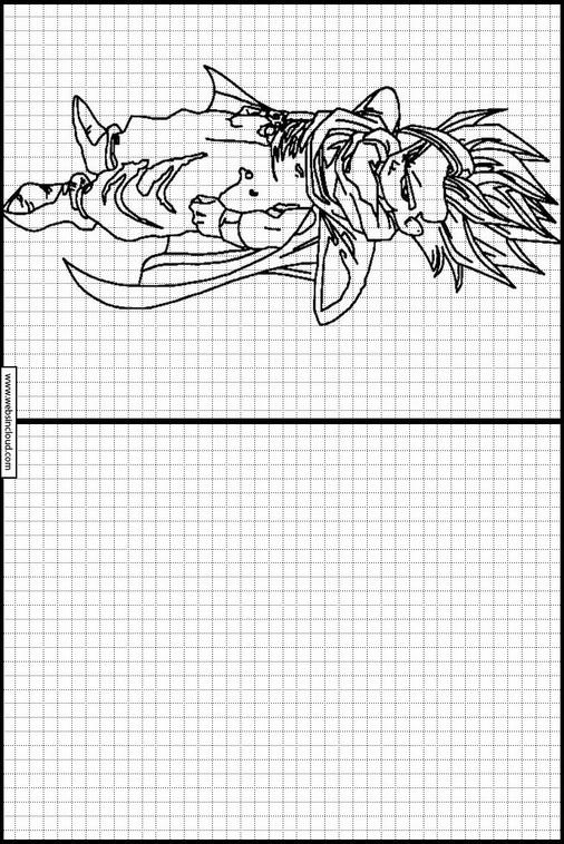 Copiar Dibujos Actividades Para Niños Dragon Ball Z 65