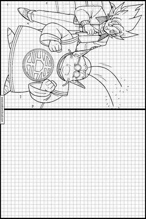 Copiar Dibujos Actividades Para Niños Dragon Ball Z 83