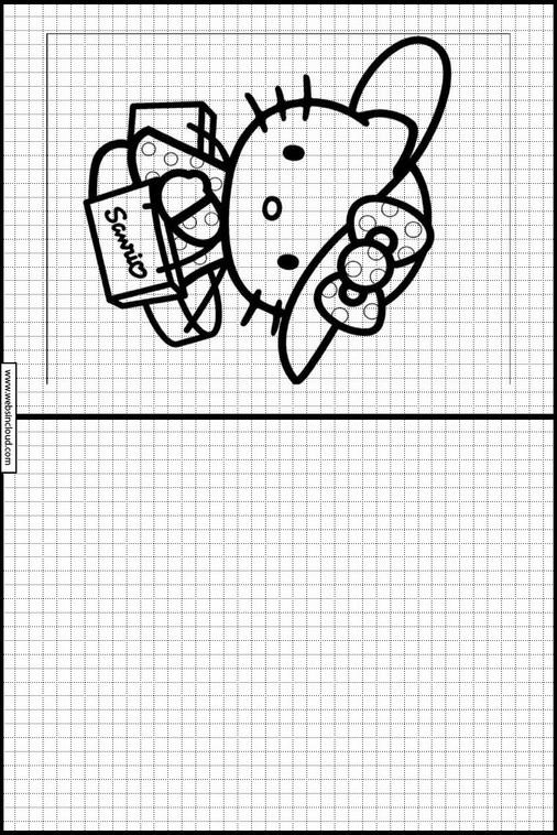 Hello Kitty Zeichnen lernen für kindern 13