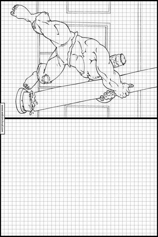 Zeichnen lernen Hulk ausmalbilder 53