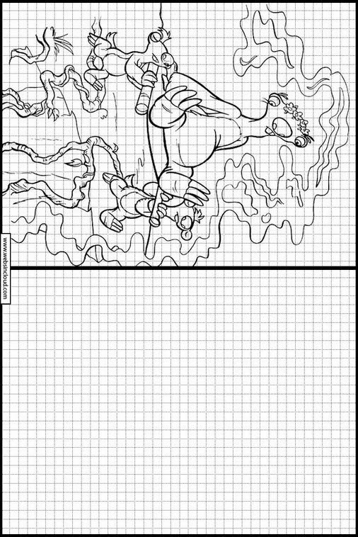 Ice Age. La Edad de Hielo dibujos para copiar y colorear 25