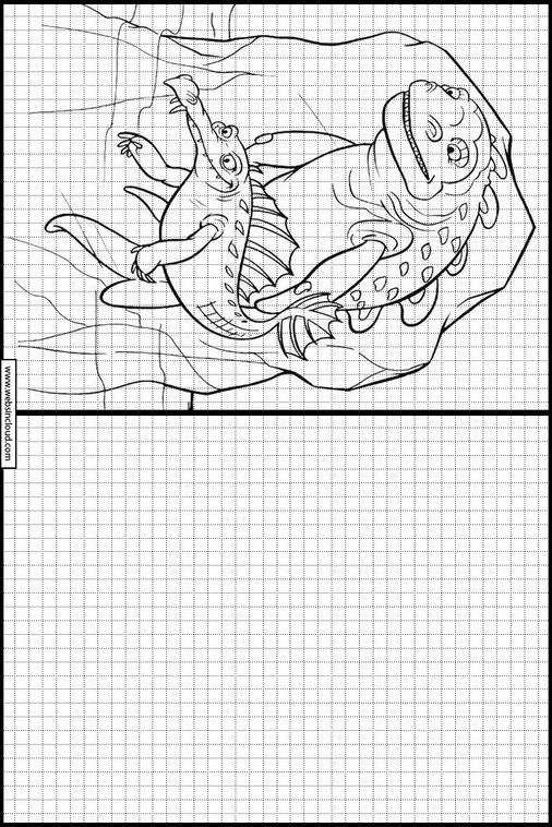Ice Age. La Edad de Hielo dibujos para copiar y colorear 26