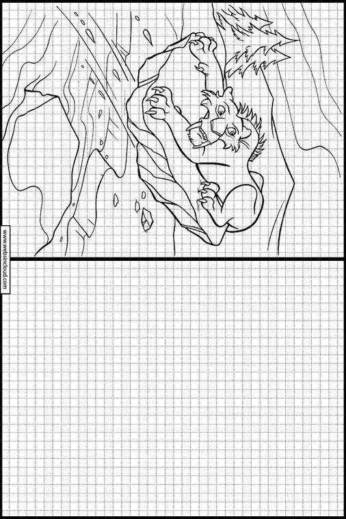 Ice Age. La Edad de Hielo dibujos para copiar y colorear 5