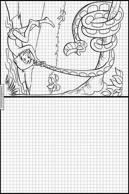 Dibujos para aprender a dibujar El Libro de la Selva 7