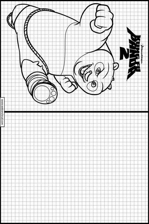 Aprender a dibujar con actividades para niños Kung Fu Panda 1