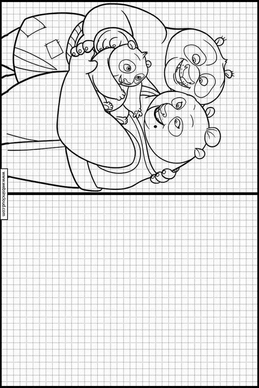 Kung Fu Panda dibujos para copiar y colorear 33