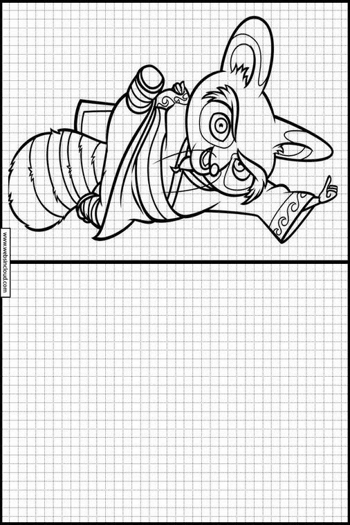 Zeichnen lernen Kung Fu Panda malvorlagen 42