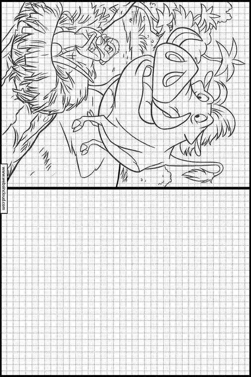 Zeichnen lernen Der König der Löwen malvorlagen 12