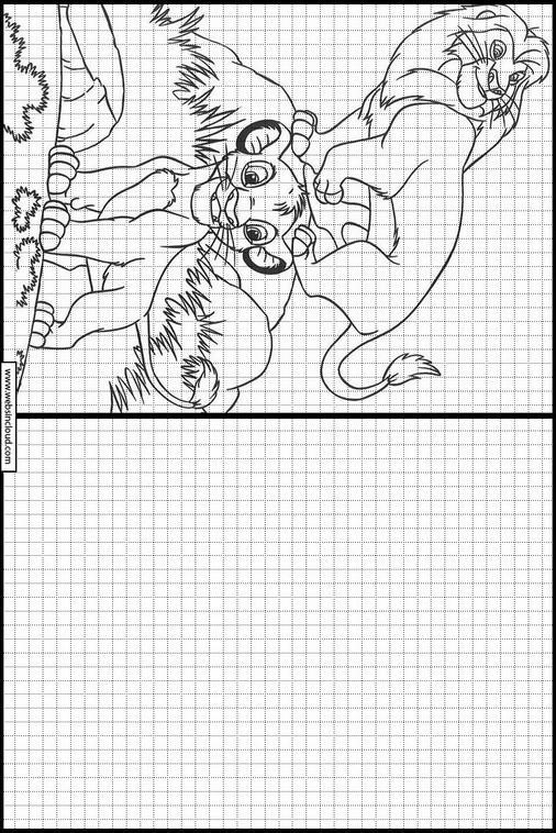 El Rey Leon dibujos para copiar y colorear 7