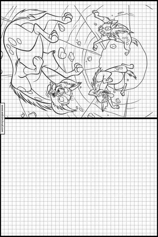 El Rey Leon dibujos para dibujar y colorear 9