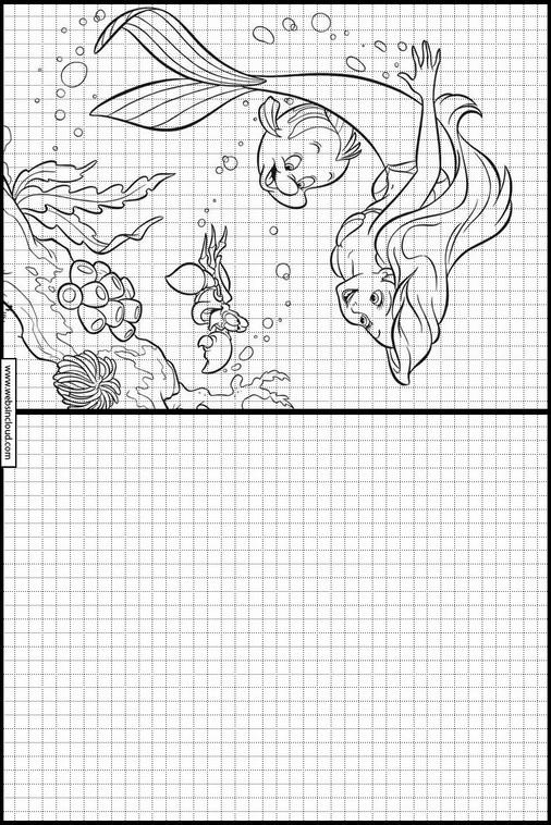 Zeichnen Lernen Arielle Die Kleine Meerjungfrau Ausmalbilder 17