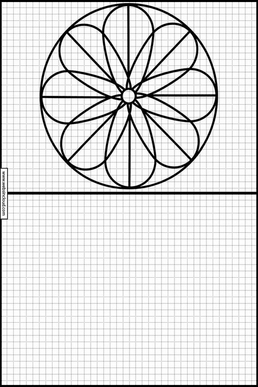 Zeichnen lernen Mandalas malvorlagen 42
