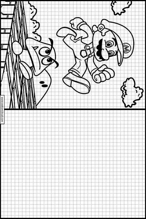 Copiar dibujos actividades para niños Mario Bros 29