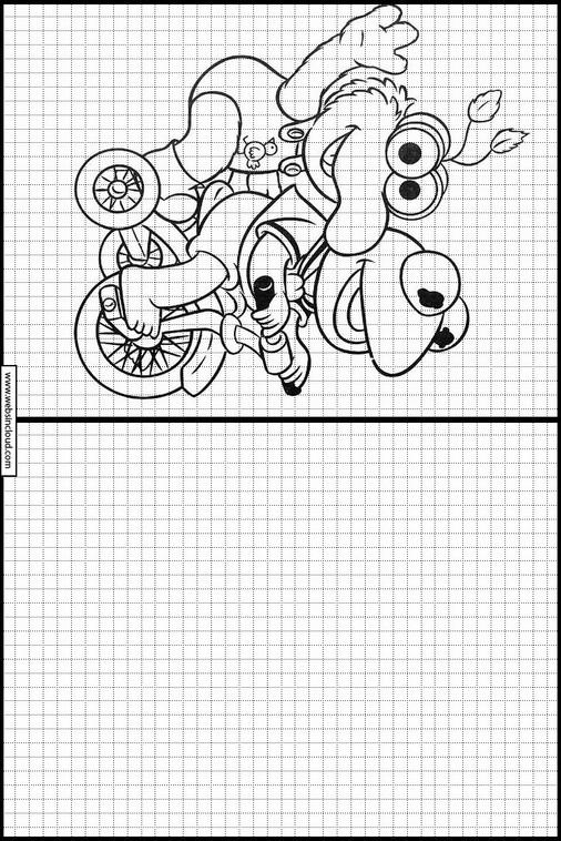 Zeichnen lernen Muppets ausmalbilder 23