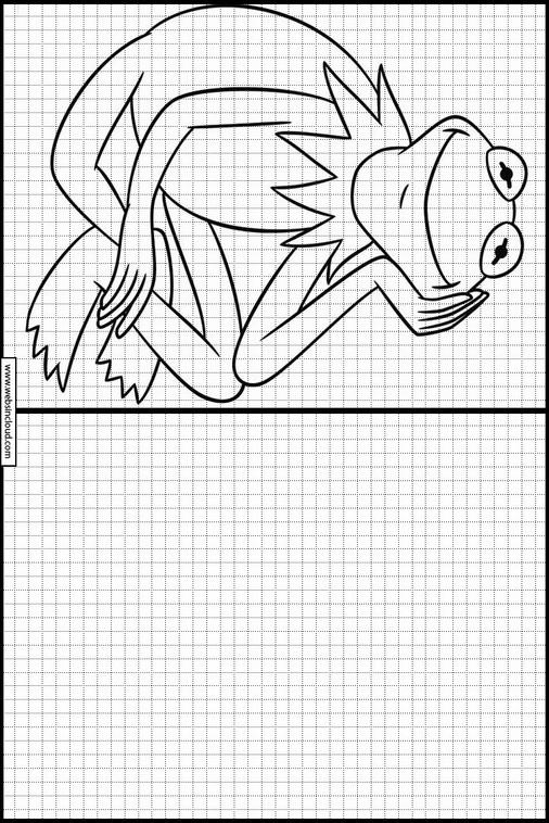 Muppets dibujos para copiar y colorear 7