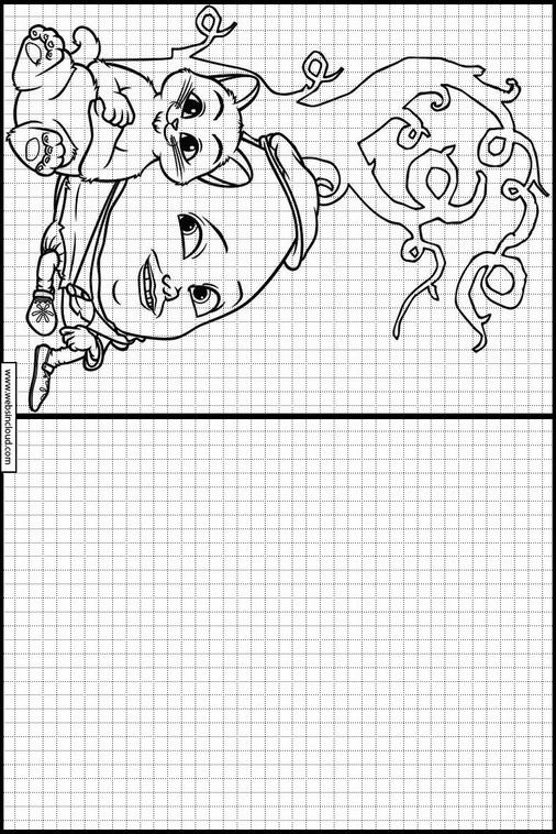 Atividades Para Aprender A Desenhar Gato De Botas 4