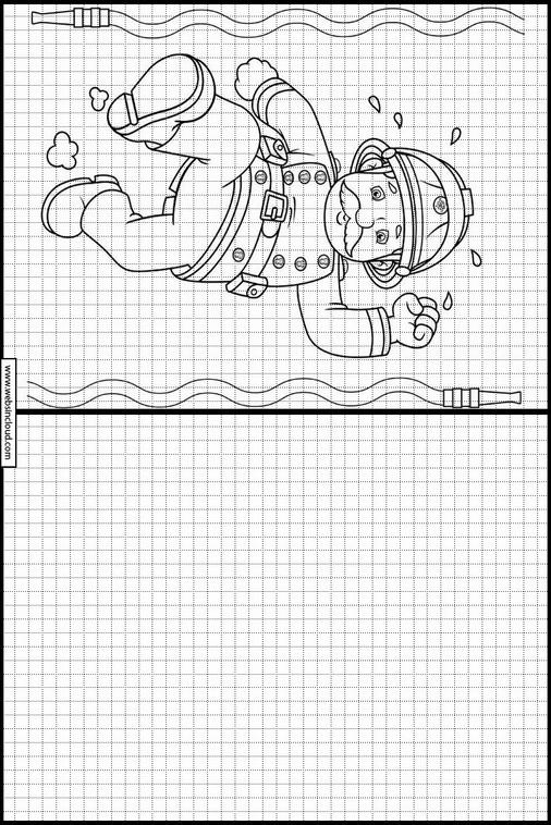 Asombroso Bombero Sam Imprimible Para Colorear Molde - Dibujos Para ...