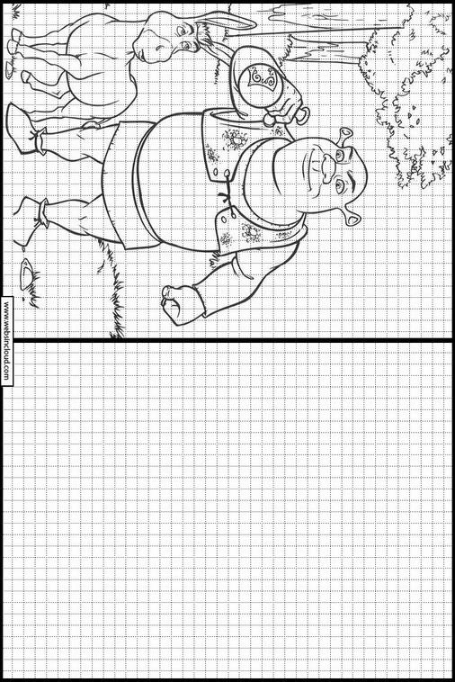 Shrek dibujos para dibujar y colorear 54