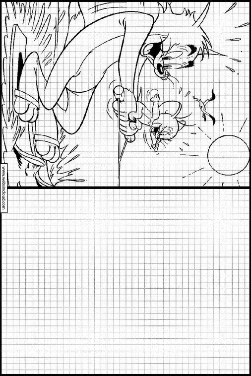 Zeichnen lernen Tom und Jerry malvorlagen 60