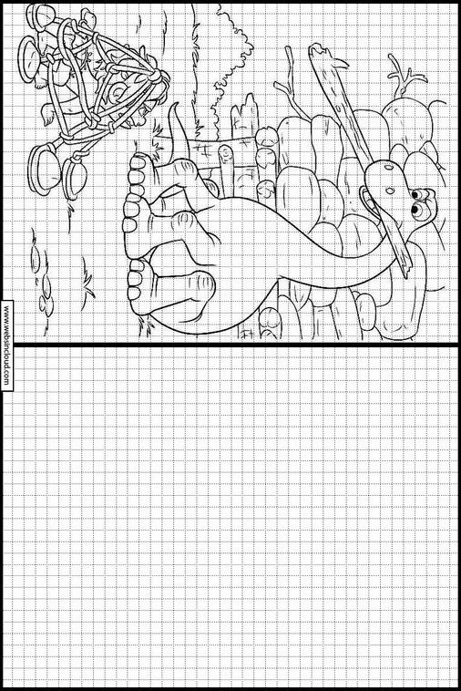 Zeichnen lernen Arlo & Spot ausmalbilder 11