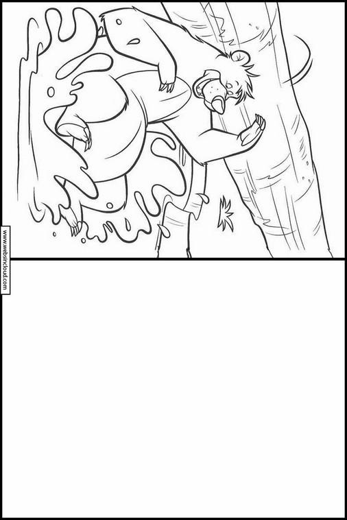 Zeichnen lernen Das Dschungelbuch malvorlagen 36