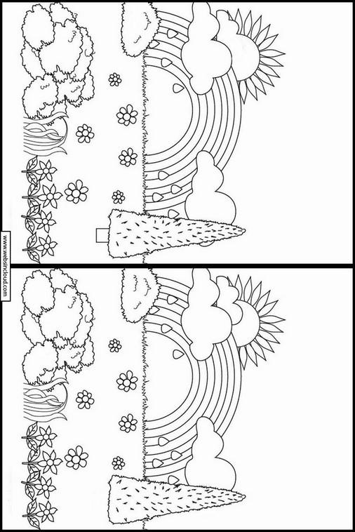 Trova le differenze da stampare arcobaleno 11 - Arcobaleno da colorare stampabili ...