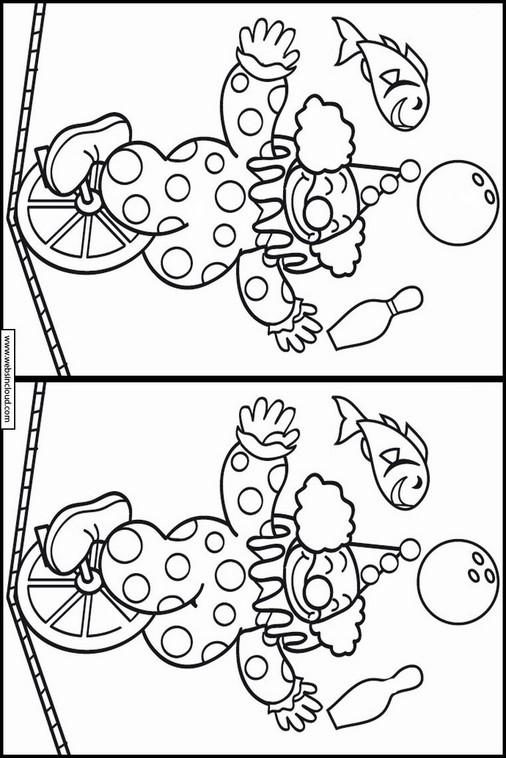 Buscar las diferencias en el dibujo Circo 16