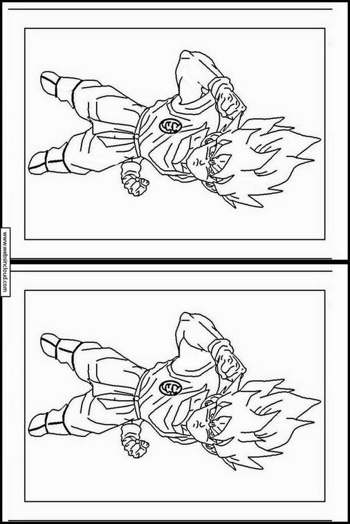 Dragon Ball Z dibujo para buscar diferencias 19