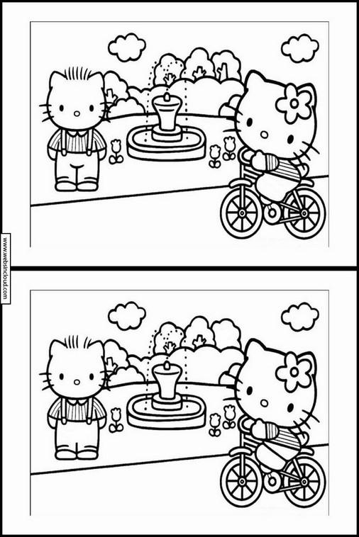 """Résultat de recherche d'images pour """"jeu différence hello kitty"""""""""""