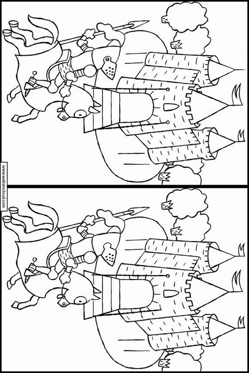 Unterschiede Finden Ritter zum ausdrucken 25
