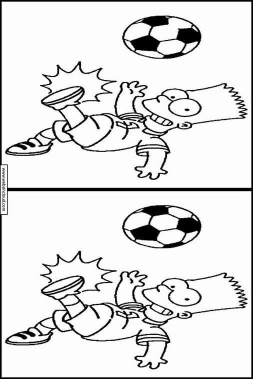 Encuentra las Diferencias actividades para niños Los Simpson 22