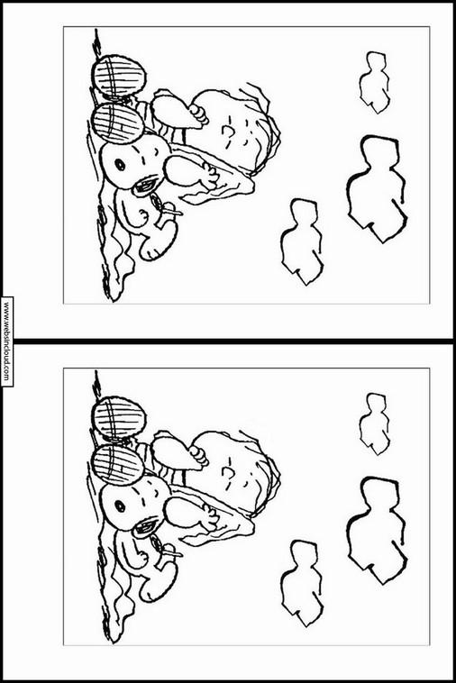 Snoopy Unterschiede Finden Zum Ausdrucken 22